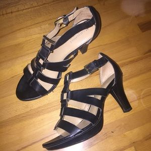 black bucked heels
